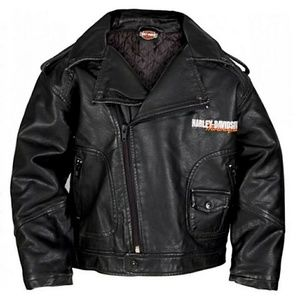 Harley-Davidson Baby Boy Upwing Eagle Biker Jacket